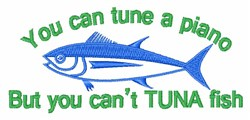 Cant Tuna Fish embroidery design