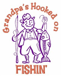 Grandpas Hooked embroidery design