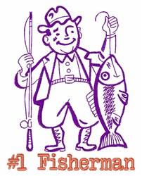 #1 Fisherman embroidery design