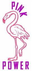 Pink Power embroidery design