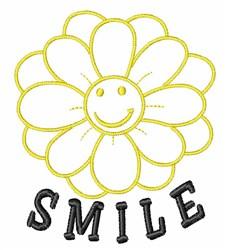 Smile embroidery design