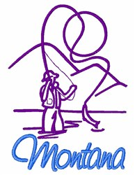 Montana embroidery design