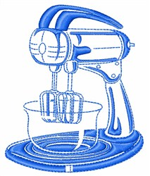 Food Mixer embroidery design