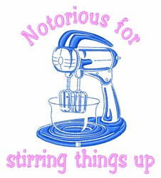 Stir Things Up embroidery design