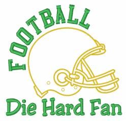 Die Hard Fan embroidery design