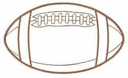 Football Outline Embroidery Designs Machine Embroidery