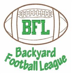 Backyard League embroidery design