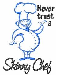 Skinny Chef embroidery design