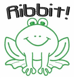 Ribbit embroidery design