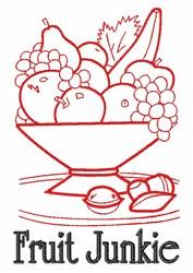 Fruit Junkie embroidery design