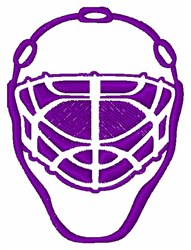 Goalie Mask embroidery design