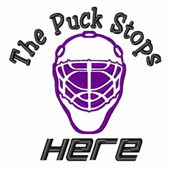Puck Stops Here embroidery design