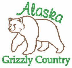 Alaska Grizzly embroidery design