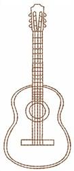 Guitar Outline embroidery design