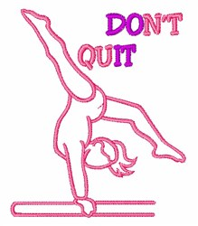 Dont Quit embroidery design