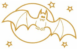 Halloween Bat embroidery design