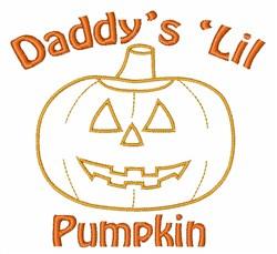 Daddys Pumpkin embroidery design