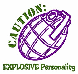 Explosive Personality embroidery design