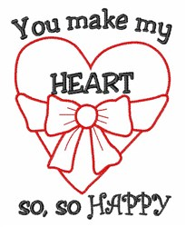 My Heart Happy embroidery design