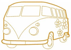 Hippie Bus embroidery design