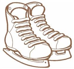 Hockey Skates embroidery design