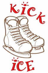 Kick Ice embroidery design
