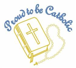 Proud Catholic embroidery design