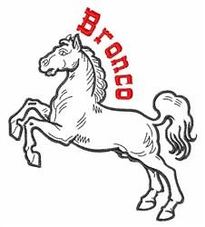 Bronco embroidery design