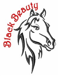 Black Beauty embroidery design