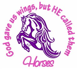 Callled Them Horses embroidery design
