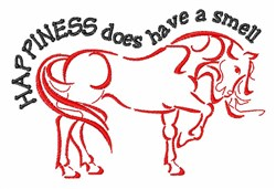 Smell Happiness embroidery design