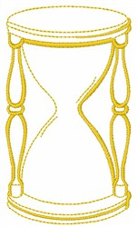 Hourglass Outline embroidery design