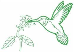 Hummingbird Outline embroidery design