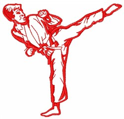 Karate Man embroidery design
