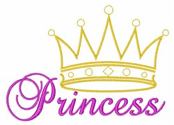 Princess embroidery design