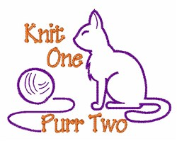 Knit One embroidery design