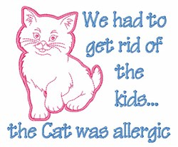 Cat Was Allergic embroidery design