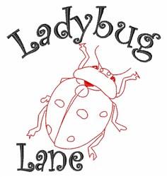 Ladybug Lane embroidery design