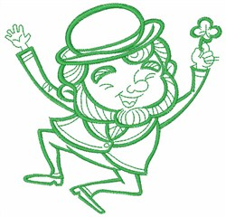Leprechaun Outline embroidery design
