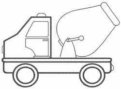 Cement Truck embroidery design