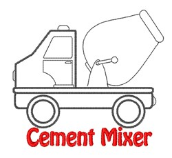 Cement Mixer embroidery design