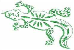 Lizard Gecko embroidery design
