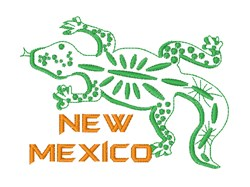 New Mexico Lizard embroidery design