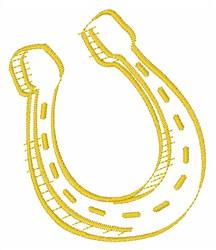 Lucky Horseshoe embroidery design