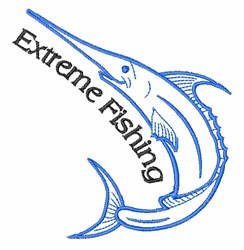 Extreme Fishing embroidery design