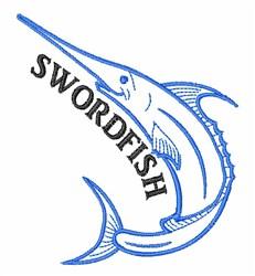 Swordfish embroidery design