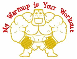 Your Workout embroidery design