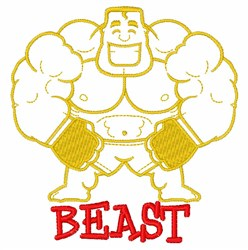 Beast embroidery design