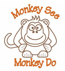Monkey Do embroidery design