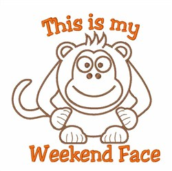 Weekend Face embroidery design